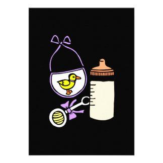 lavanda do babador do chocalho da garrafa