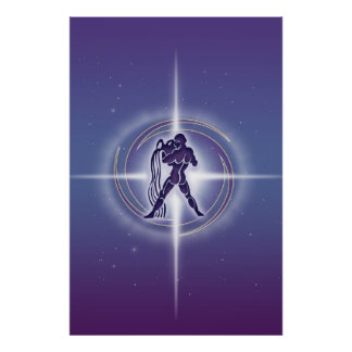 Lavanda do horóscopo do Aquário Poster