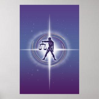 Lavanda do horóscopo do Libra Poster