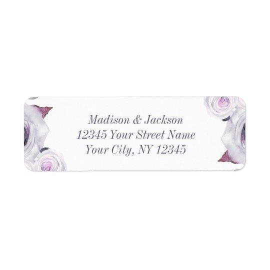 Lavanda & endereço do remetente floral cinzento do etiqueta endereço de retorno