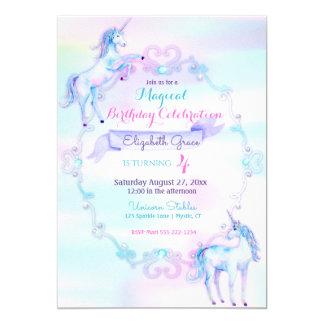 Lavanda mágica do rosa do Aqua do arco-íris da Convite 12.7 X 17.78cm