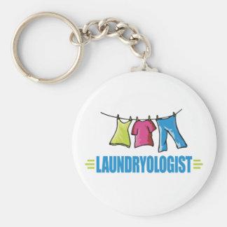 Lavanderia engraçada chaveiro