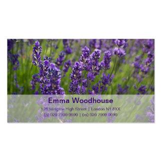 Lavendar Lavendel Cartoes De Visitas