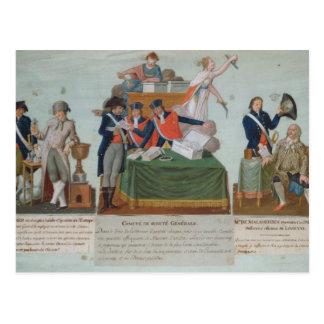 Lavoisier, Comite de Surete Generale Cartão Postal