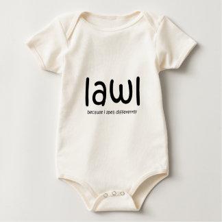 Lawl - porque eu soletro differnetly macacãozinhos para bebê