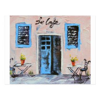Le Café, pintura da faca de paleta no óleo Cartão Postal