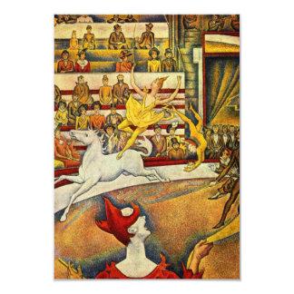 Le Cirque (o circo) por Georges Seurat Convite 8.89 X 12.7cm