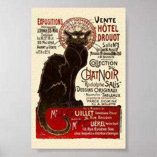 Le Conversa Noir, belas artes de Vente Hôtel Pôster