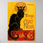 Le Conversa Noir o vintage de Nouveau da arte do g Posters