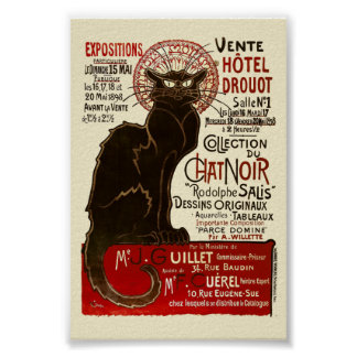 Le Conversa Noir, Vente Hôtel Drouot Poster
