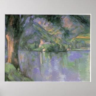 Le laca d Annecy 1896 por Paul Cezanne Pôster