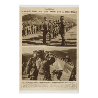 Le Miroir 1918, o exército grego recebe honras Posteres