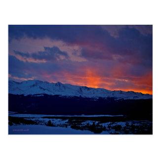 Leadville, Colorado & cartão maciço do por do sol
