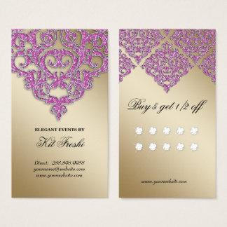 Lealdade da faísca do ouro do damasco do cartão de visitas