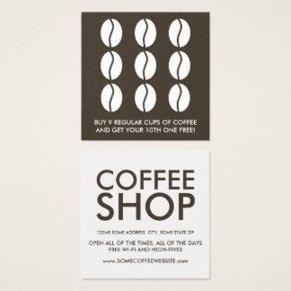 lealdade dos feijões de café cartão de visitas quadrado