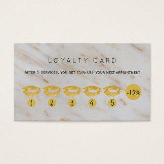 Lealdade glam do salão de beleza do mármore dos cartão de visitas