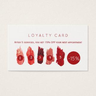 Lealdade vermelha do salão de beleza das amostras cartão de visitas
