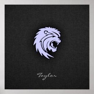 Leão azul de Leo da lavanda Impressão