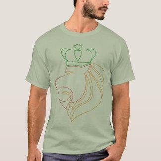 Leão coroado reggae de Rasta Camiseta