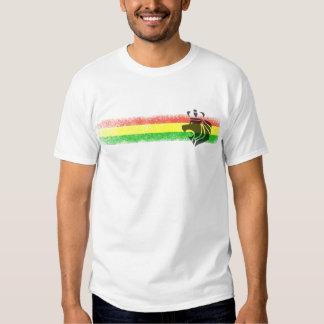 Leão coroado reggae de Rasta Camisetas