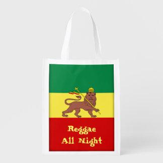 Leão da reggae de Rasta da reggae de Judah toda a Sacolas Reusáveis