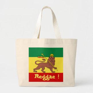 Leão da reggae de Rasta de Judah Sacola Tote Jumbo