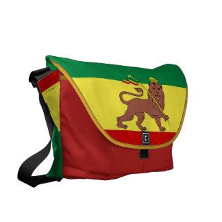 Leão da reggae de Rasta do grande mensageiro zero Bolsa Mensageiro