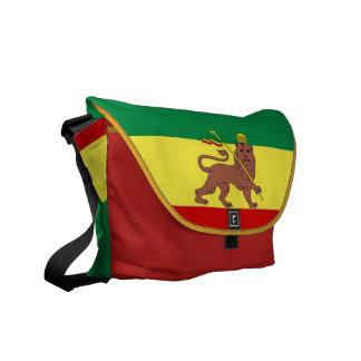 Leão da reggae de Rasta do mensageiro do meio zero Bolsa Mensageiro