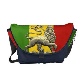 Leão da reggae de Rasta do saco do rickshaw de Jud Bolsa Mensageiro