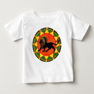 Leão da reggae de Rasta do vintage Camiseta Para Bebê