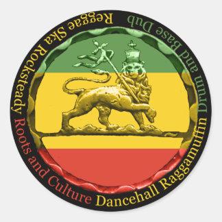 Leão da reggae de Rastagearshop da etiqueta de