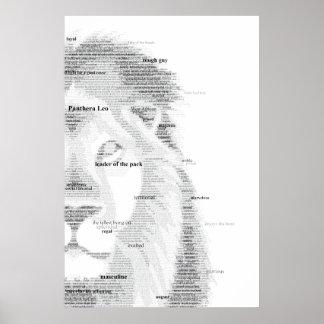 Leão da tipografia pôster