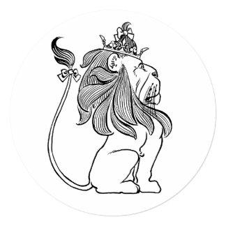 Leão de mágico de Oz do vintage, festa de Convite Quadrado 13.35 X 13.35cm