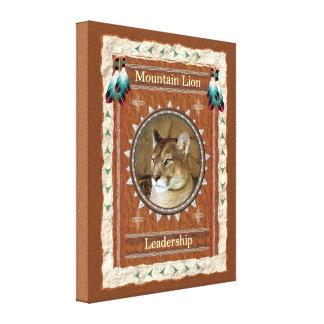 Leão de montanha - canvas da liderança