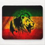 Leão de Rasta da reggae Mouse Pads