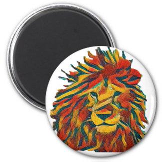 Leão de Rasta Ímã Redondo 5.08cm