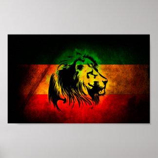 Leão de Rasta Poster