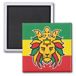 Leão de Rastafari de Judah Ímã Quadrado