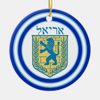Leão do emblema Ariel de Judah Ornamento De Cerâmica