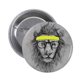 Leão do hipster boton