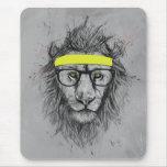 Leão do hipster mouse pad