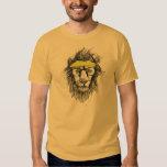 Leão do hipster tshirts