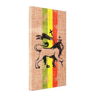 Leão do rei impressão de canvas esticadas