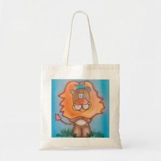 Leão dos desenhos animados sacola tote budget