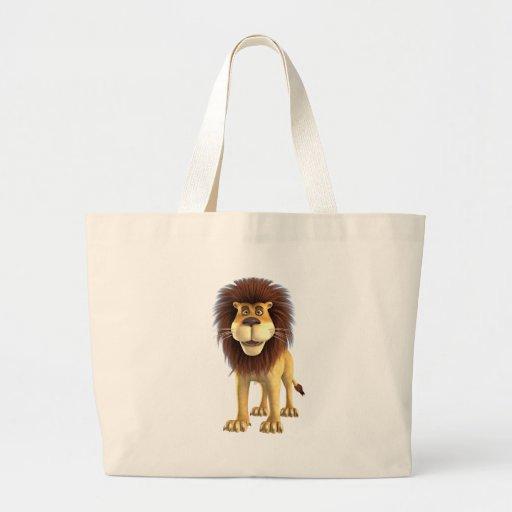Leão dos desenhos animados bolsa de lona