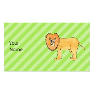 Leão dos desenhos animados cartao de visita