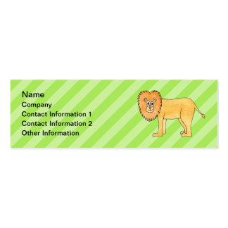 Leão dos desenhos animados modelos cartões de visita