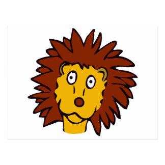 Leão engraçado cartão postal