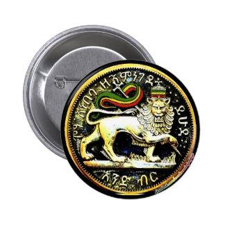 """leão etíope redondo do ¼ 2"""" do crachá da moeda de  bóton redondo 5.08cm"""