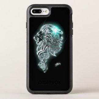 Leão feroz de incandescência capa para iPhone 7 plus OtterBox symmetry